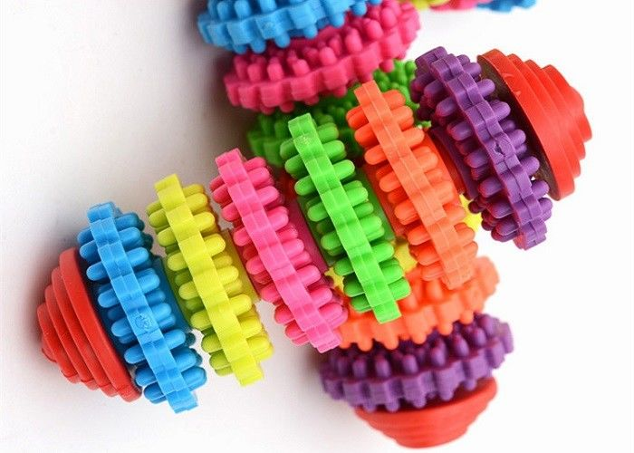Colorful Bone Shaped Plastic Pet Toys OEM ODM Accepted Four Size Optional