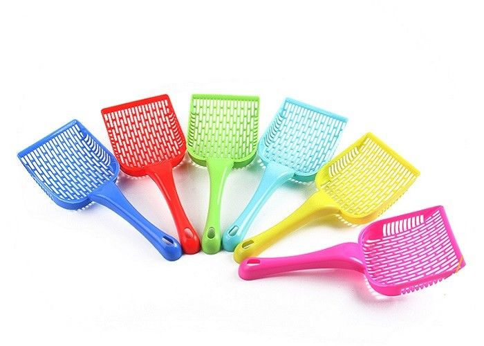 PP Material Pet Litter Scoop 26.5CM Toilet Clean Shovel With Custom Color