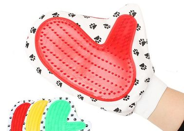 Paw Printing Colorful Pet Massage Glove Silicone ISO9001 Disetujui 50g ODM